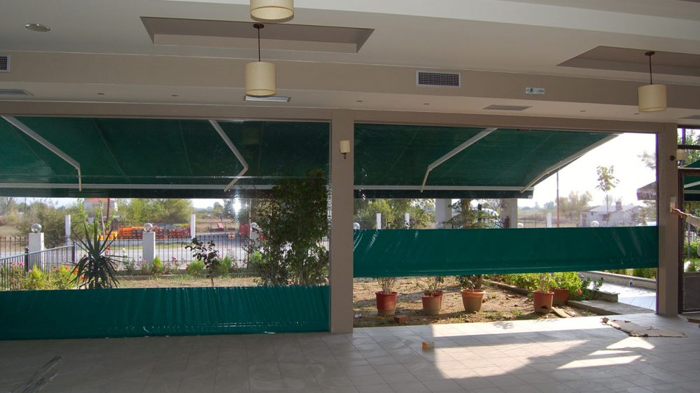 VERTICAL DROP AWNING
