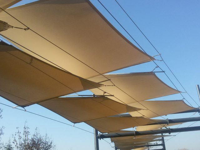 TENSILE STRUCTURE AWNINGS